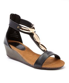 Look at this Black Dolani Sandal on #zulily today!