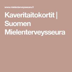 Kaveritaitokortit   Suomen Mielenterveysseura
