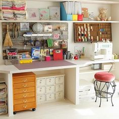 Sewing/craft room goals! This has been a goal of mine for a long time now. Aiming to reach it for 2017. #sewingroom #craftroom #organization #storage #goals#lovetosew #seamstress