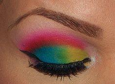 Color Block Makeup