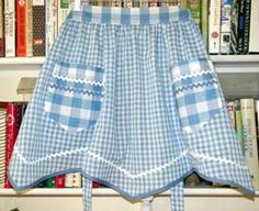 Gingham Apron..M.Taylor: This is the exact fabric choices I used in a favorite smock top I made to wear in Junior High School about 7th, or 8th. grade.have some now too may use it to practice smocking for the firts time