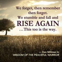 From the book Wisdom of the Peaceful Warrior by Dan Millman