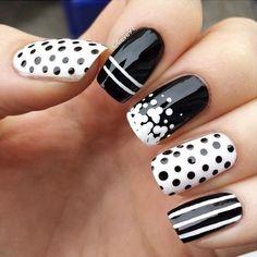 30 Adorable Polka Dots Nail Designs  <3 <3
