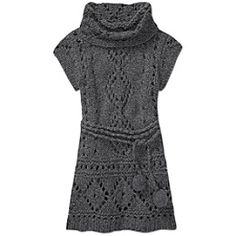 Lola Chunky Hand Knit Tunic by Rs Designs Llc, Krimson Klover - The crochet tunic from Krimson Klover thats designed to show off your base layer.