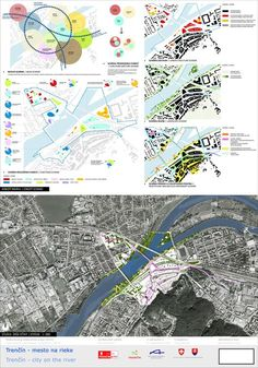 of the Competition Trenčín – City on the River Site Analysis Architecture, Architecture Site Plan, Architecture Portfolio, Architecture Diagrams, Urban Design Concept, Urban Design Diagram, Urban Design Plan, Project Presentation, Presentation Design