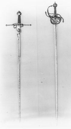 Sword with Wheellock Pistol. Date: second half of century. Swords And Daggers, Knives And Swords, Kendo, Rapier Sword, Fencing Sword, Pirate Sword, Small Sword, Pretty Knives, Sword Tattoo