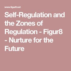 Self-Regulation and the Zones of Regulation - Figur8 - Nurture for the Future