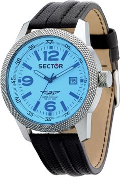 Sector No Limits Urban Overland R3251102014, Sector Reloj color aqua/plateado con fecha Para hombres