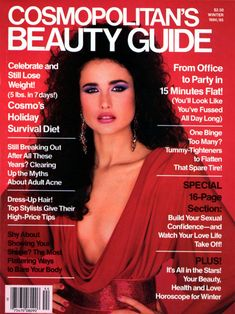 Andie Macdowell  -  Cosmo UK Beauty Guide Winter 1984/1985