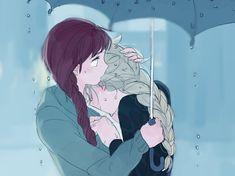Anime Girlxgirl, Yuri Anime, Frozen Elsa And Anna, Disney Frozen Elsa, Disney Princess Art, Disney Art, Princess Luna, Jelsa, Freezing Anime