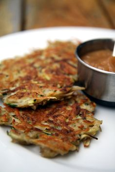 Zucchini Potato Latkes - Savory and slightly more moist, they're easy to whip up for any time of the year.