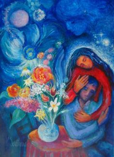 #Marc-Chagall #MarcChagall #Chagall Resting in Love ~