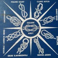 Resultado de imagen para vintage camp knots poster