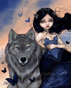 Silver Wolf butterfly werewolf fairy.