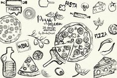 Pizza Menu by StudioDesset on @creativemarket