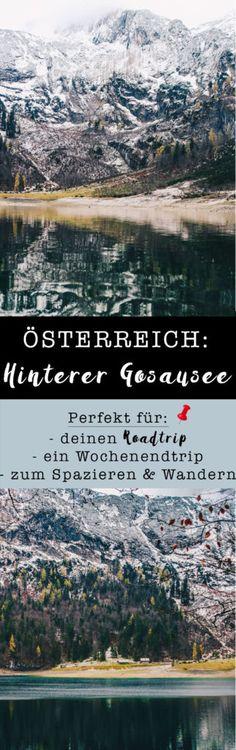 Wochenendtrip zum Gosausee, Österreich auf VANILLAHOLICA.com .  Wenn ein Land geradeso von schönen Landschaften, Wäldern, Seen und Bächen verwöhnt ist, dann ist es das Salzburgerland. Die schönsten Österreich Landschaften und Ausblicke findest Du auf meinem Blog.Ganz gleich ob für Wanderungen und Ausflüge im Winter oder Sommer ! #austria #gosausee #mountains #roadtrip Rafting, Hallstatt, World Pictures, Roadtrip, Austria, Seen, Places To Visit, Outdoor, Mountains