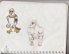 Xisco Xander Lyon - Águila y Rinoceronte
