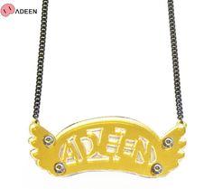 ADEEN NYC (エディーン) ADEEN NECKLACE (GOLD MIRROR) [ネックレス/アクリル] [ゴールド]【楽天市場】
