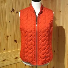 HPRust Chico's vest Quilted vest with fancy trim and 2 pockets. Goes great with the shirts that are posted. Great weight for spring! Chico's Jackets & Coats Vests
