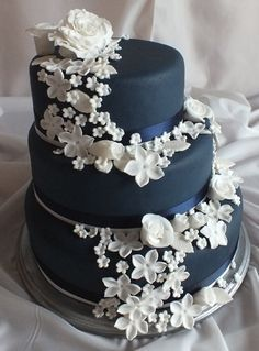 royal blue edible orchids for wedding cake - Google Search