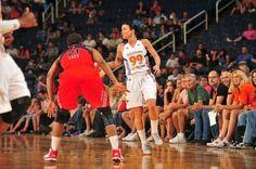 Samantha Prahalis ignited shades of her Ohio State playing days, using a late burst to help a short-handed Phoenix Mercury team beat the Washington Mystics, 80-77. Phoenix played without Diana Taurasi, Nakia Sanford and Candice Dupree.