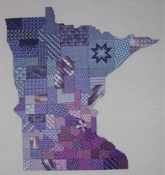 Sally Wagner's take off from my Michigan Mosaic.  A beautiful version of Minnesota.