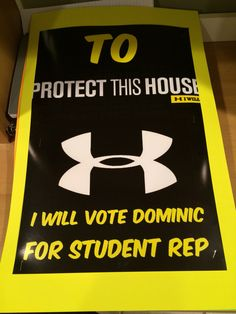 Student Government Campaign Posters