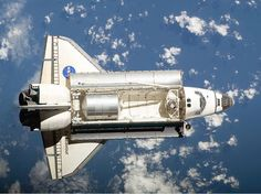The Space Shuttle Endeavour approaches the International Space Station