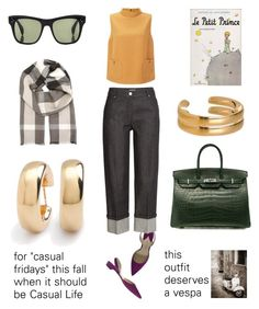 """what i want this fall no. 2"" by bananya ❤ liked on Polyvore featuring Hermès, Paul Andrew, Oliver Peoples, Michael Kors, Ippolita, Burberry, Maiyet, modern, vintage and falllooks"