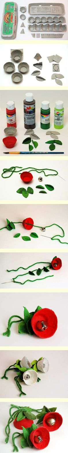 Jingle bell flowers ornament - going to use this in a science class to name different parts of a flower with a fairly young class. Christmas Jingles, Christmas Bells, Kids Christmas, Christmas Decorations, Christmas Ornaments, Crafts To Do, Holiday Crafts, Crafts For Kids, Christmas Activities