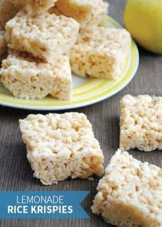 Adults and kids alike will love munching on these Lemonade Rice Krispies Treats®. This a great summer dessert recipe to add to your kids' sidewalk stand!