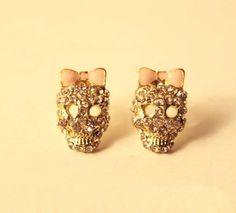Bow Skullie Earrings