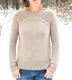 Вязаный спицами свитер Yuka | ДОМОСЕДКА