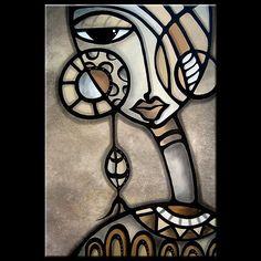 Cubist 139 2436 GW Original Cubist Art Identity Crisis