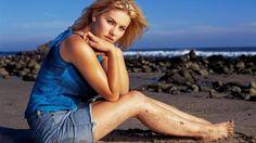 Elisha Cuthbert on Beach