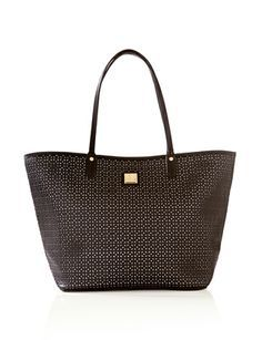 Laser Cut Tote from THELIMITED.com #TheLimited #FineDetails #Tote #Handbag #LTDStyle