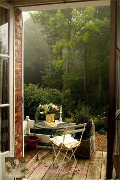 woodsy outdoor space