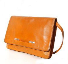 Carolina French Vintage Tan Leather 1970s by dandeliondaydreamer