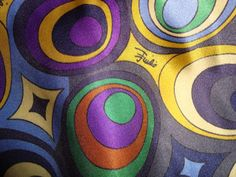 EMILIO PUCCI fabric 100% Silk Satin for dress,shirt or skirt, Made in Italy by FashionFabrics4U on Etsy