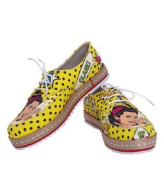 Look at this Yellow Pop Art Sneaker on #zulily today!