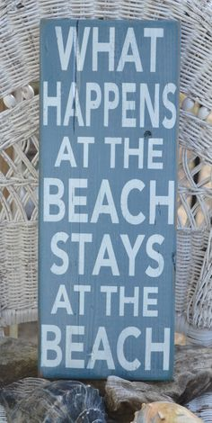 What Happens At The Beach Stays At The Beach by CarovaBeachCrafts,  FB - Carova Beach Crafts
