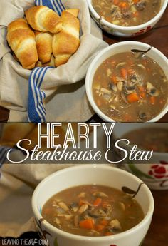 Steakhouse Stew is a great recipe to use up leftover steak from a grill out night! I add leftover rotisserie chicken to fill it out and make this a filling meal. www.leavingtherut.com