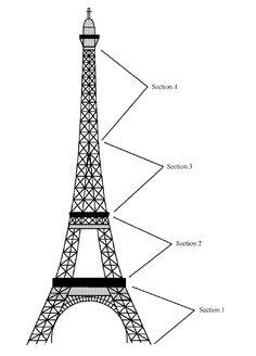 Sugar Duchess - Eiffel tower in royal icing tutorial Royal Icing Piping, Royal Icing Cakes, Royal Icing Sugar, Royal Icing Templates, Royal Icing Transfers, Cake Templates, Design Templates, Eiffel Tower Drawing, Eiffel Tower Cake
