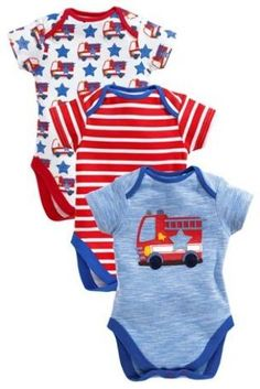Buy Three Pack Fire Engine Bodysuits (0mths-2yrs) from the Next UK online shop