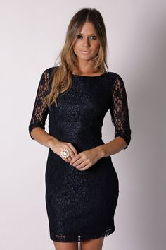 Catherine Lace Dress-Navy, and beautiful!