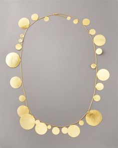 Long Disc Necklace by Herve Van Der Straeten at Bergdorf Goodman. Fun & fashion forward <3