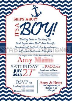 Pirate Baby Shower Invitation for Boys Invitation Pirate Shower ...