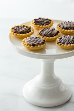 Mini Salted Caramel Chocolate Pies from My Baking Addiction