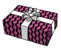 Retro Black and Pink Curvy Blocks