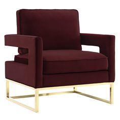 Anya Velvet Arm Chair   Joss & Main